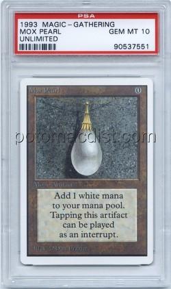 Magic the Gathering TCG: Unlimited Mox Pearl Card [Graded PSA 10]