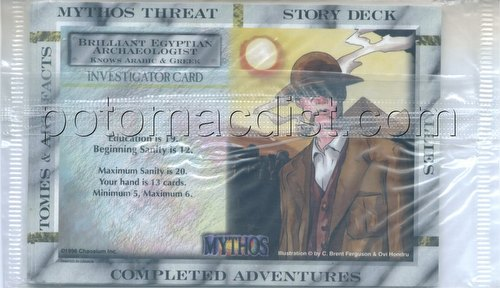 Mythos Collectible Card Game [CCG]: 9-Card Investigator Pack