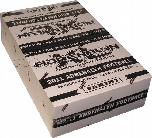 2011 Panini Adrenalyn XL Trading Card Game Football Rack Pack Box