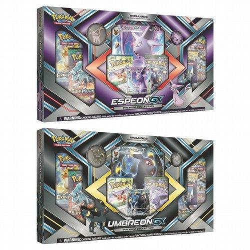 Pokemon TCG: Espeon-GX & Umbreon-GX Premium Collection Set [2 boxes/1 of each]