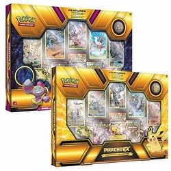 Pokemon TCG: Legendary Hoopa-EX & Pikachu-EX Collectors Box Case [6 of each box]