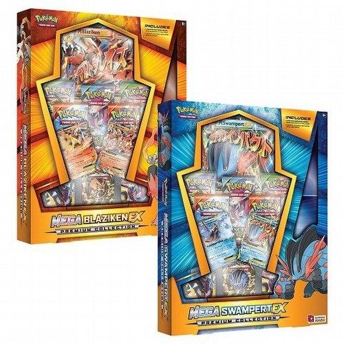 Pokemon TCG: Mega Blaziken-EX and Mega Swampert-EX Premium Collection Set [1 box of each]