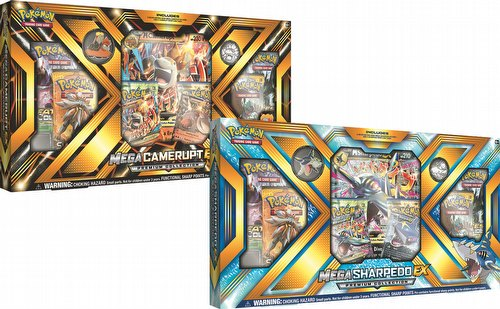 Pokemon TCG: Mega Camerupt-EX and Mega Sharpedo-EX Premium Collection Set [1 of each box]