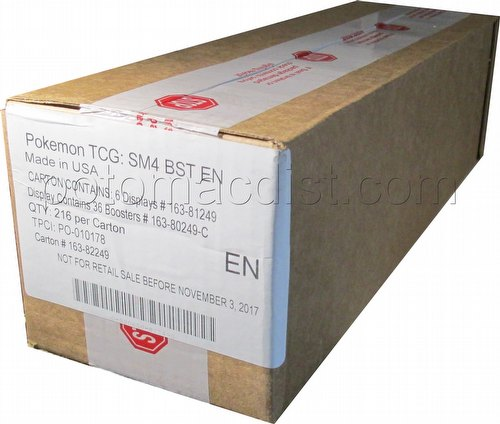 Pokemon TCG: Sun & Moon Crimson Invasion Booster Box Case [6 boxes]