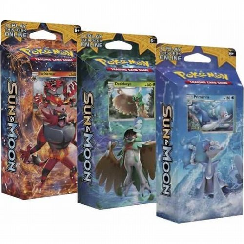 Pokemon TCG: Sun & Moon Theme Starter Deck Set [3 decks]