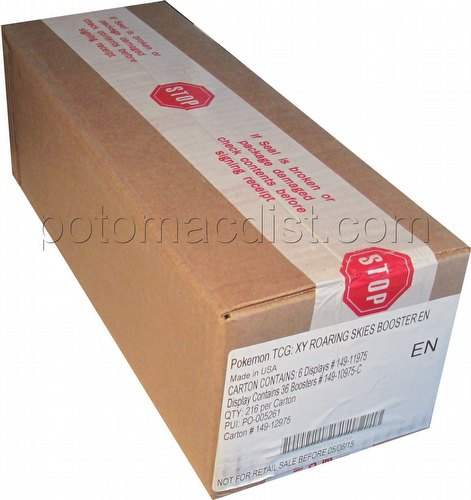 Pokemon TCG: XY Roaring Skies Booster Box Case [6 boxes]