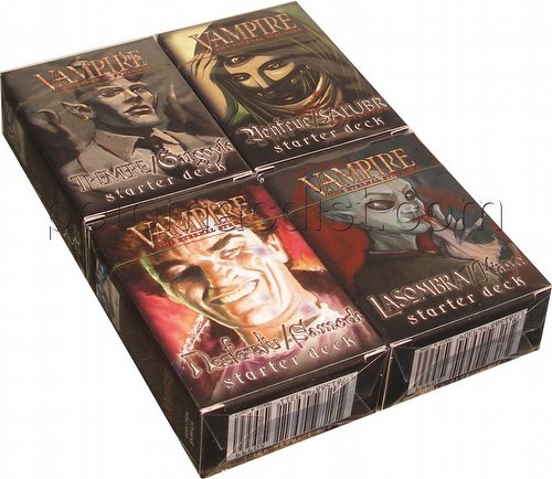 Vampire: The Eternal Struggle CCG Heirs to the Blood Starter Deck Set [4 decks]