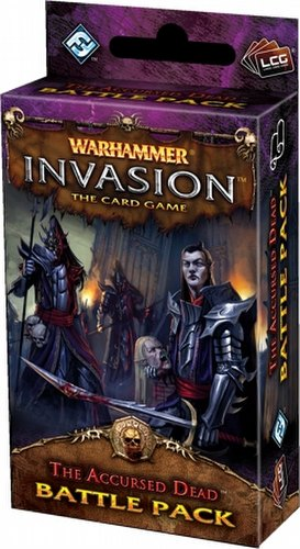Warhammer Invasion LCG: The Bloodquest Cycle - The Accursed Dead Battle Pack Box [6 packs]