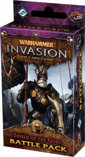 Warhammer Invasion LCG: The Bloodquest Cycle - Shield of the Gods Battle Pack Box [6 packs]