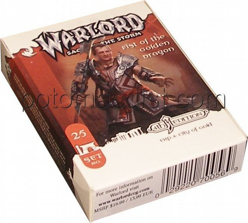 Warlord CCG: 4th Edition Exp. #4 City of Gold - Fist of the Golden Dragon Adventure Path Set (#25)