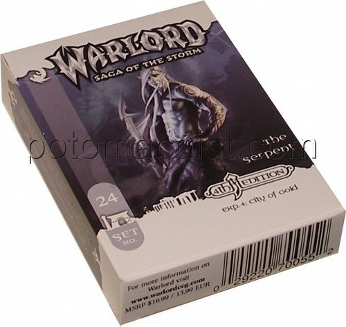Warlord CCG: 4th Edition Exp. #4 City of Gold - The Serpent Adventure Path Set (#24)