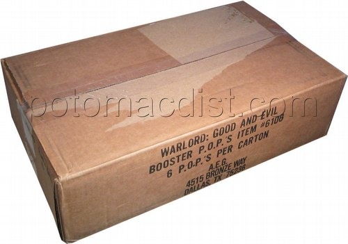 Warlord CCG: Good & Evil Booster Box Case [6 boxes]
