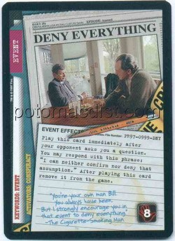 X-Files CCG: Deny Everything Card