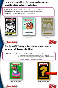 Garbage Pail Kids Brand New Series 3 [2013] Gross Stickers Jumbo Case [Retail/108 packs]