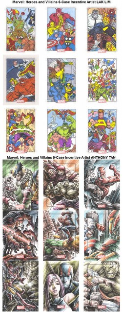 Marvel Heroes & Villians Trading Cards Box