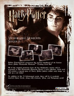 Harry Potter Memorable Moments Series 2 Trading Cards Box Case [10 boxes]