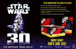 Star Wars 30th Anniversary Trading Cards Box Case [Hobby/8 boxes]