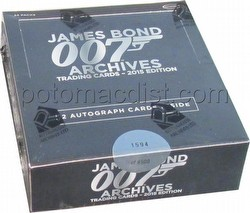 James Bond Archives 2015 Edition Trading Cards Box