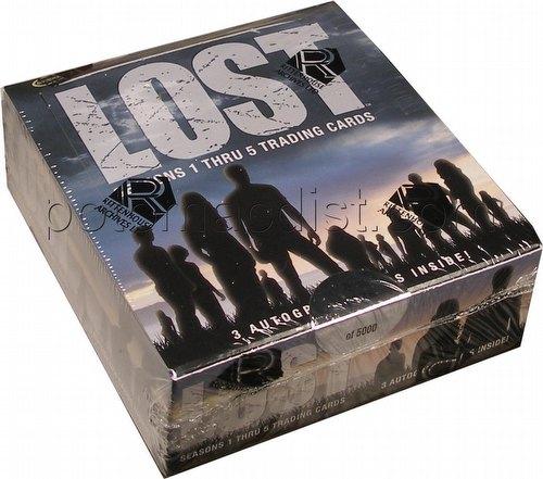 Lost Seasons 1 Thru 5 (1-5) Trading Cards Box