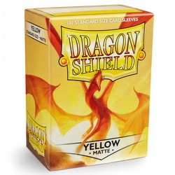 Dragon Shield Deck Protector Box - Matte Yellow