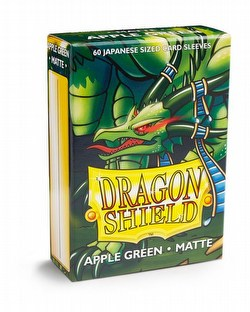 Dragon Shield Japanese (Yu-Gi-Oh Size) Card Sleeves Box - Matte Apple Green [10 packs]