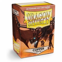 Dragon Shield Standard Size Card Game Sleeves Box - Matte Copper