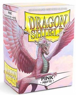 Dragon Shield Standard Size Card Game Sleeves Box - Matte Pink