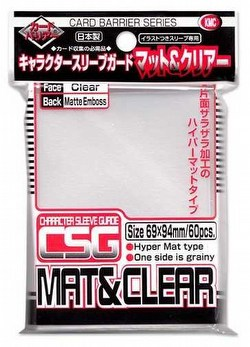 KMC Standard Oversized Deck Protectors - Character Guard [Matte Clear/10 packs]