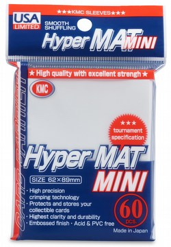 KMC Card Barrier Hyper Mat Mini Yu-Gi-Oh Size Sleeves - Hyper Matte White Case [30 packs]