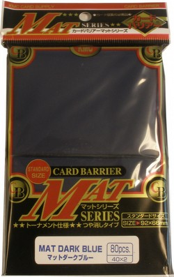 KMC Card Barrier Mat Series Standard Size Sleeves - Matte Dark Blue Case [30 packs]