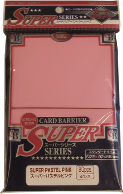KMC Card Barrier Super Series Standard Size Sleeves - Super Pastel Pink [10 packs]