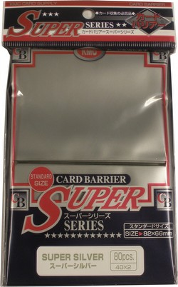 KMC Card Barrier Super Series Standard Size Sleeves - Super Silver Case [30 packs]