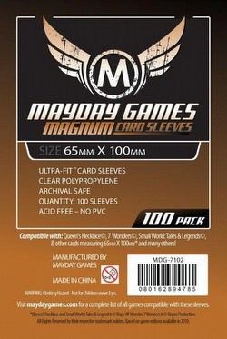 Mayday 7 Wonders Magnum Ultra-Fit Board Game Sleeves [10 Packs/65mm x 100mm]
