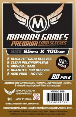 Mayday 7 Wonders Magnum Ultra-Fit Premium Board Game Sleeves [10 Packs/65mm x 100mm]