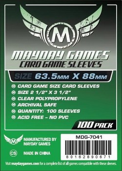 Mayday Card Game Sleeves Case [100 Packs/63.5mm x 88mm]