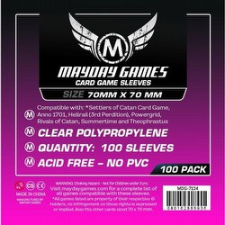 Mayday Square Board Game Sleeves Case [100 Packs/70mm x 70mm]