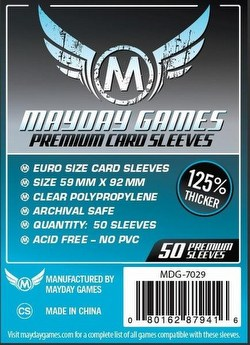 Mayday Standard European Premium Board Game Sleeves [10 Packs/59mm x 92mm]