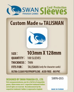 Swan Panasia Talisman Character Cards Game Sleeves [10 Packs/103mm x 128mm]