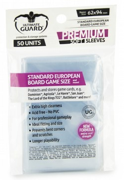 Ultimate Guard Premium Standard European Board Game Sleeves Case [180 packs]