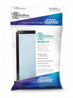 Ultimate Guard Standard Size Precise-Fit Bordifies Black Sleeves Box [20 packs]