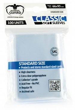 Ultimate Guard Standard Size Classic Soft Sleeves [10 packs]
