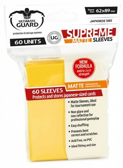 Ultimate Guard Supreme Yu-Gi-Oh/Japanese Size Matte Yellow Sleeves Box [10 packs]