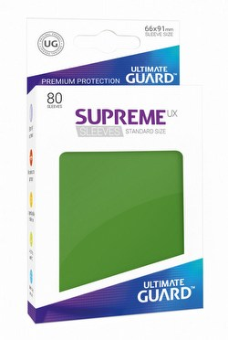 Ultimate Guard Supreme UX Standard Size Green Sleeves Box [10 packs]