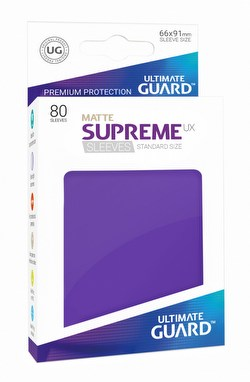 Ultimate Guard Supreme UX Standard Size Matte Purple Sleeves Box [10 packs]