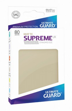 Ultimate Guard Supreme UX Standard Size Matte Sand Sleeves Box [10 packs]