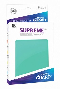 Ultimate Guard Supreme UX Standard Size Turquoise Sleeves Box [10 packs]