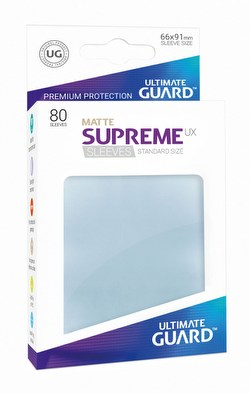 Ultimate Guard Supreme UX Standard Size Matte Transparent Sleeves Box [10 packs]