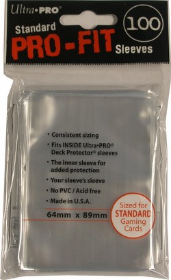 Ultra Pro Standard Pro-Fit Deck Protectors Sleeves Pack