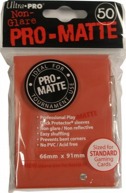 Ultra Pro Pro-Matte Standard Size Deck Protectors Pack - Red