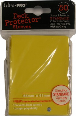 Ultra Pro Standard Size Deck Protectors Box - Yellow